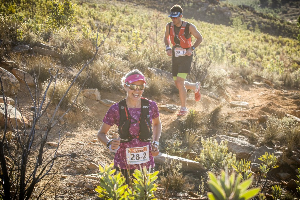 Landie and Christiaan Greyling, of Salomon/Garmin, were in imperious form dominating the mixed category at the 2017 Tankwa Trail from start to finish. Photo by Oakpics.com.